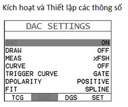 Cách vẽ đường cong DAC bằng máy siêu âm mối hàn DFX-8